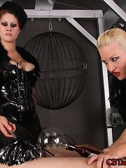 Goddess Soma and her ally double dom a helpless slave.