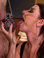 Mistress Sophie Dee humiliates and punishes her cuck adumbrate three pressing all hung dusky studs