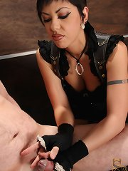 Satine Phoenix does her very 1st CBT scene, and throughly tortures her slave\\\'s ramrod and balls.
