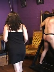Pandora humiliates and punishes her slave-gimp