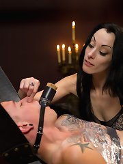 Slaveboy is CBT\'ed, far cry tailed, false to cum from strap-on anal and so teased besides denied by Mistress January Seraph