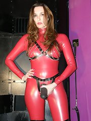 Strict strapon mistress