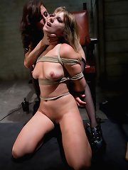 Maitresse Madeline bound, humiliated, screwed and hazed in as director