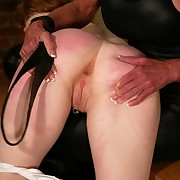 Dirty ass spanking with an increment of strapon sex