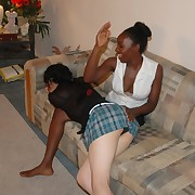 Interracial over the knee spanking