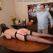 Caning and blowjob