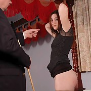A slut was caned