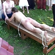 Alfresco spanking and birching in russian outback