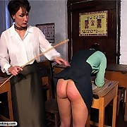Stern headmistress teaches her students about proper respect