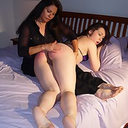 Big ass honey was spanked otk