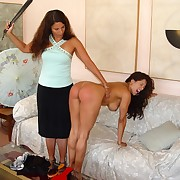 Hot babe was spanked