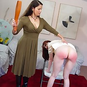 Wanton maiden has barbarous whips on her derriere
