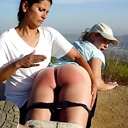 Young girl was spanked otk