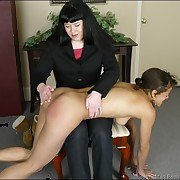Teen girls spanked