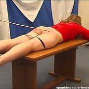 Caning of the blonde babe girl