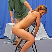 Sexy babe was punished