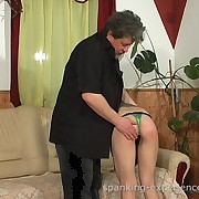 A brunette tot was spanked