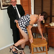 The boss paddled hot secretary babe