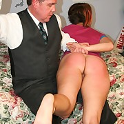Teen sweety cried when getting OTK spanking