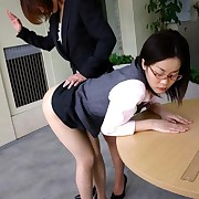 Office girl gets hard spanked