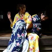 Two japan teens gets spanked