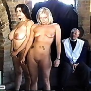 Inviting girls get lashed and caned away from the vicar