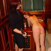 The headmistrees has two naughty girls to spank and paddle