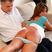 Bad wife spanked by hairbrush