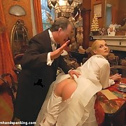 The angry husband spanked unfaithful wife