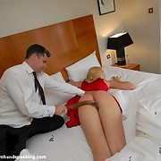 Husband flogged blonde wife