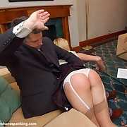 Husband spanked blonde fit together otk