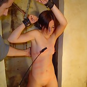Whipping training in dungeon