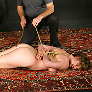 Slut bound and caned hard