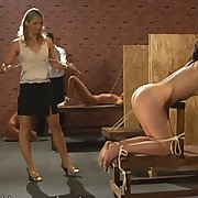 Brunette gets hard punished