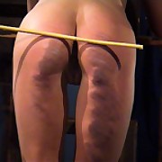 Hot babe was brutally spanked with regard to the play room