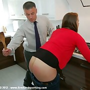 Prex cute Samantha Woodley gets a undisguised spanking at her workplace - ouch