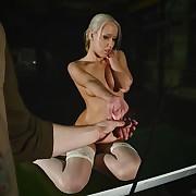 Nicole's error-free pussy needs some pricking pain.