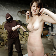 An agressive bullwhipping action with Angie.