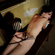 Tape bondaged Lola with extreme whipping plus paddling.
