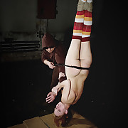 Lola was suspended down increased by flogged