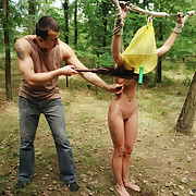 Amy was brutishly punished in the wood