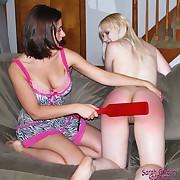 Julianne getting the brush innocent bottom spanked