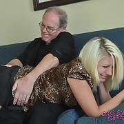 Classy doll gets her cheeks welted