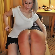 Raunchy fille has spiteful whips on her tush