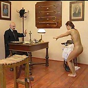 Young woman brutally caned
