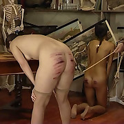 Pretty young Miss - stripped naked for a brutal and long caning