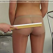 Amateur brunette chick spanked and humiliated