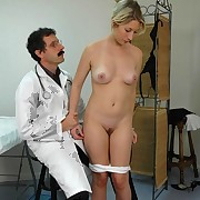 Naked teen gal acquires a humiliating full body medical enquiry