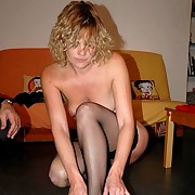 Shameful lady in nylons is taken over the knee with panties down