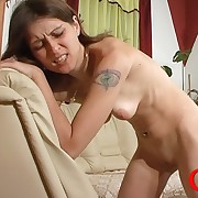 Lean Viola prefers her bootie spanked an oiled